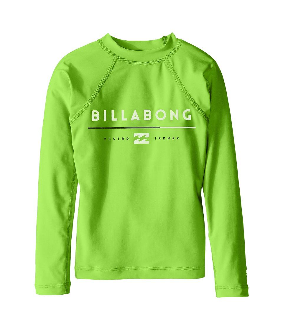 Image of Billabong Kids - All day Long Sleeve Shirt (Toddler/Little Kids/Big Kids) (Neon Green) Boy's Long Sleeve Pullover