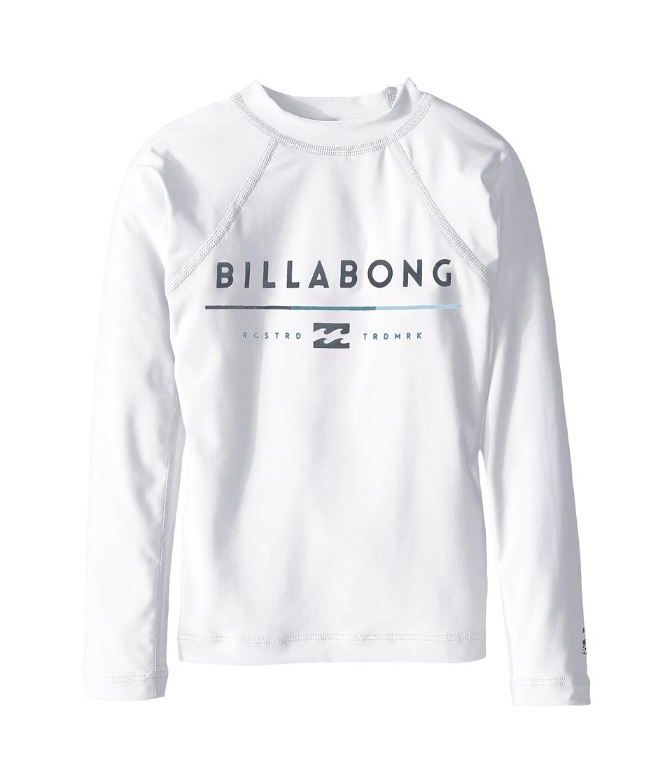 Image of Billabong Kids - All day Long Sleeve Shirt (Toddler/Little Kids/Big Kids) (White) Boy's Long Sleeve Pullover