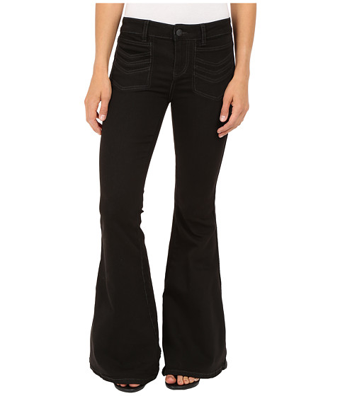 Free People Stella High Rise Flare Jeans in Black