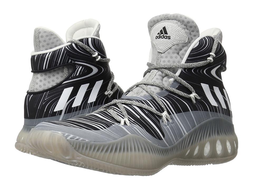 adidas - Crazy Explosive (MGH Solid Grey/White/Black) Men