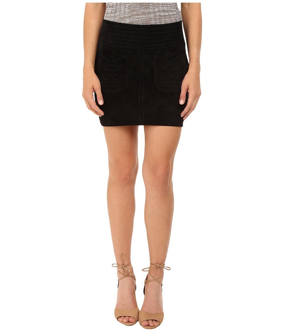 Free People Love Suede Skirt Black Womens Skirt