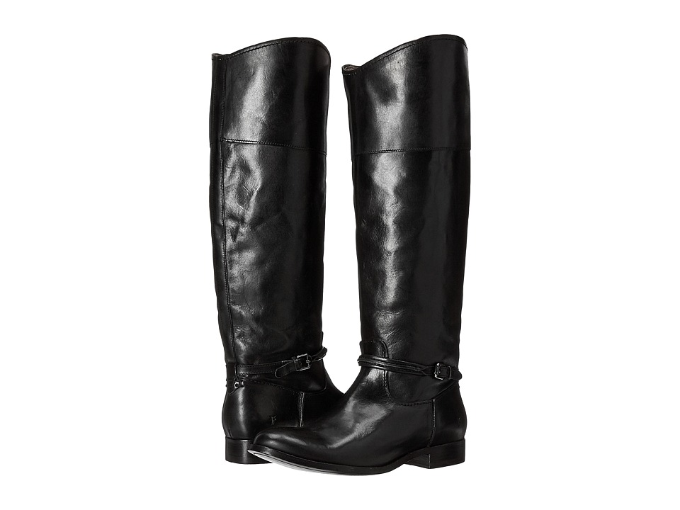 Frye Melissa Seam Tall (Black Extended) Women