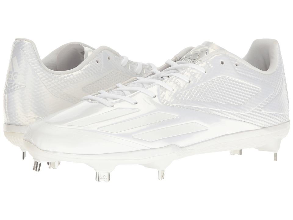 adidas Adizero Afterburner 3 (White/Silver Metallic) Men