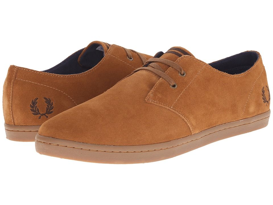 Fred Perry Byron Low Suede (Ginger/Dark Chocolate) Men