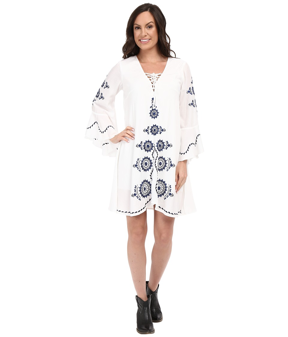 Union of Angels Chrissie Dress White/Navy Womens Dress