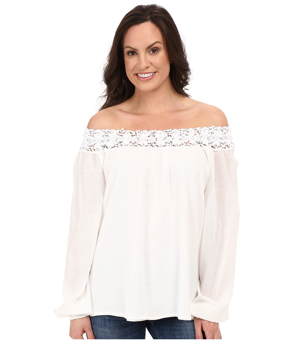 Union of Angels Christa Top White Womens Blouse