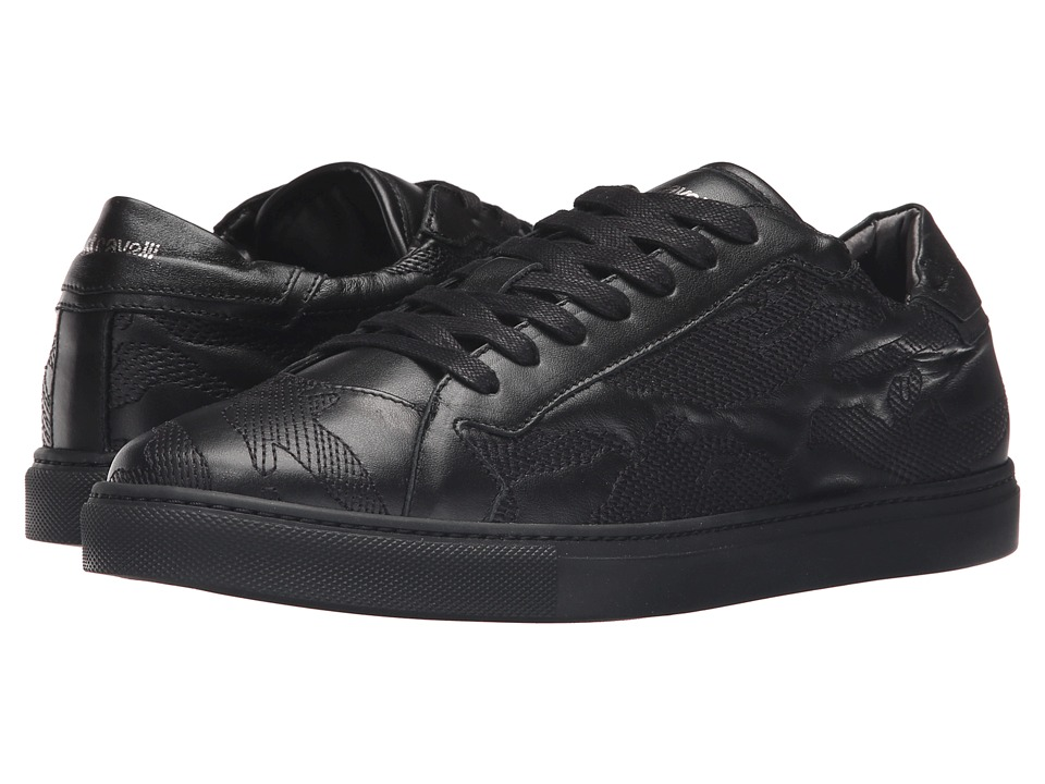 Just Cavalli - Embroidered Nappa Leather Sneakers (Black) Men