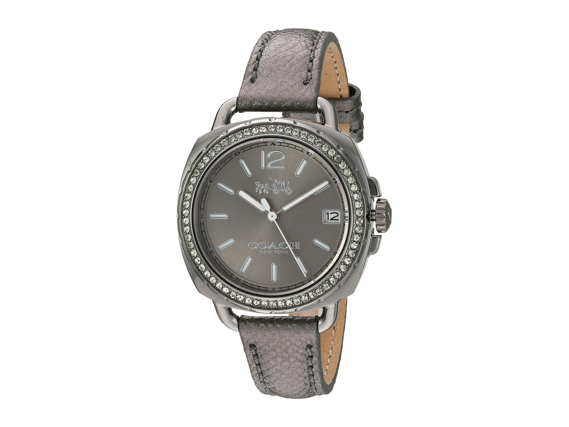 코치 테이텀 시계 그레이 COACH Tatum Watch 34mm Leather Grey