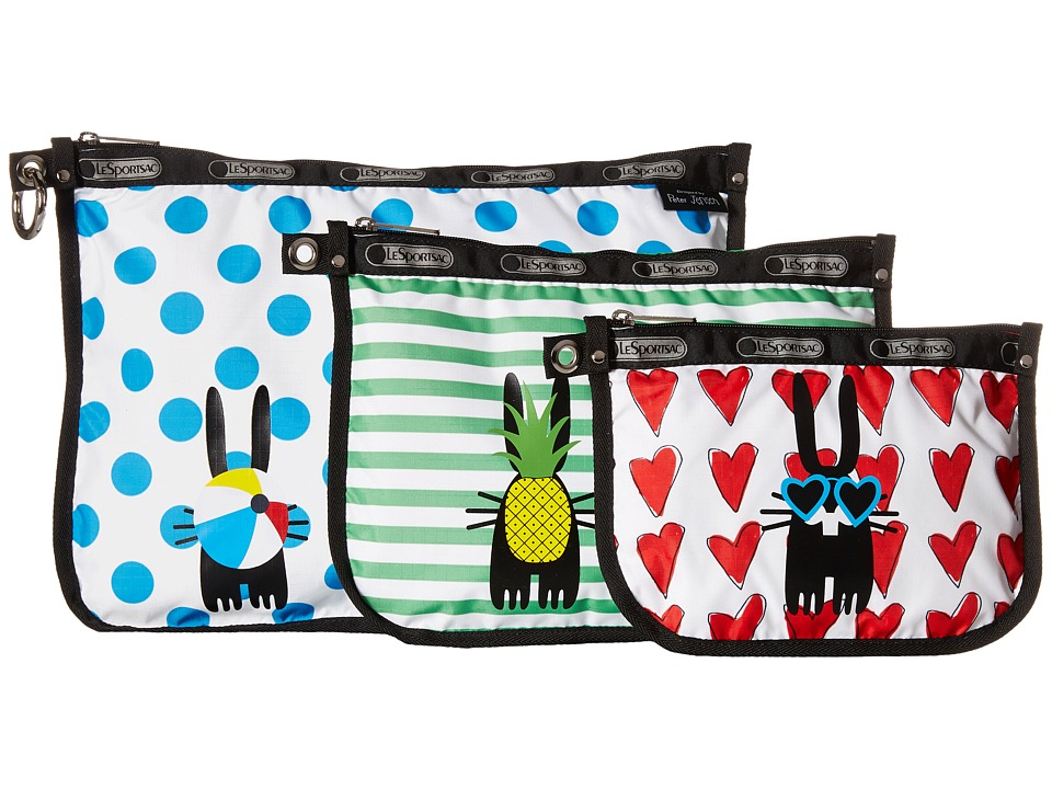 LeSportsac 3 Binded Pouch Christopher Travel Pouch