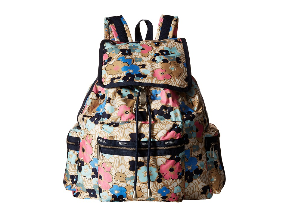 LeSportsac 3 Zip Voyager Ocean Blooms Handbags