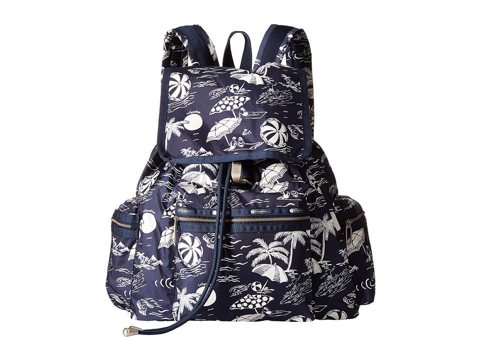 LeSportsac 3 Zip Voyager Hawaiian Getaway Handbags