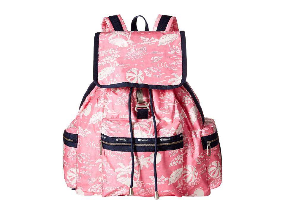 LeSportsac - 3-Zip Voyager (Hawaiian Getaway Pink) Handbags