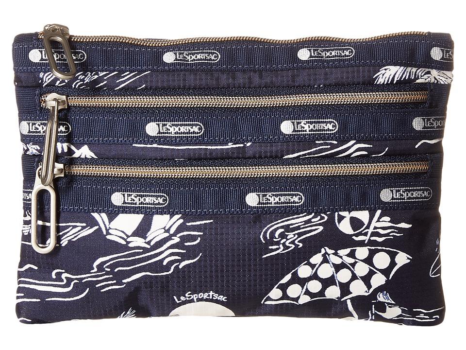 LeSportsac - Classic 3-Zip Pouch (Hawaiian Getaway) Wallet