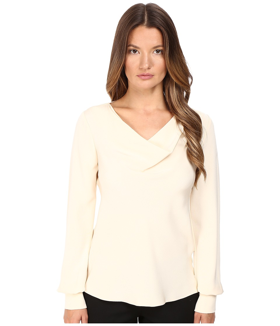 Prabal Gurung - Long Sleeve Cowl Neck Blouse