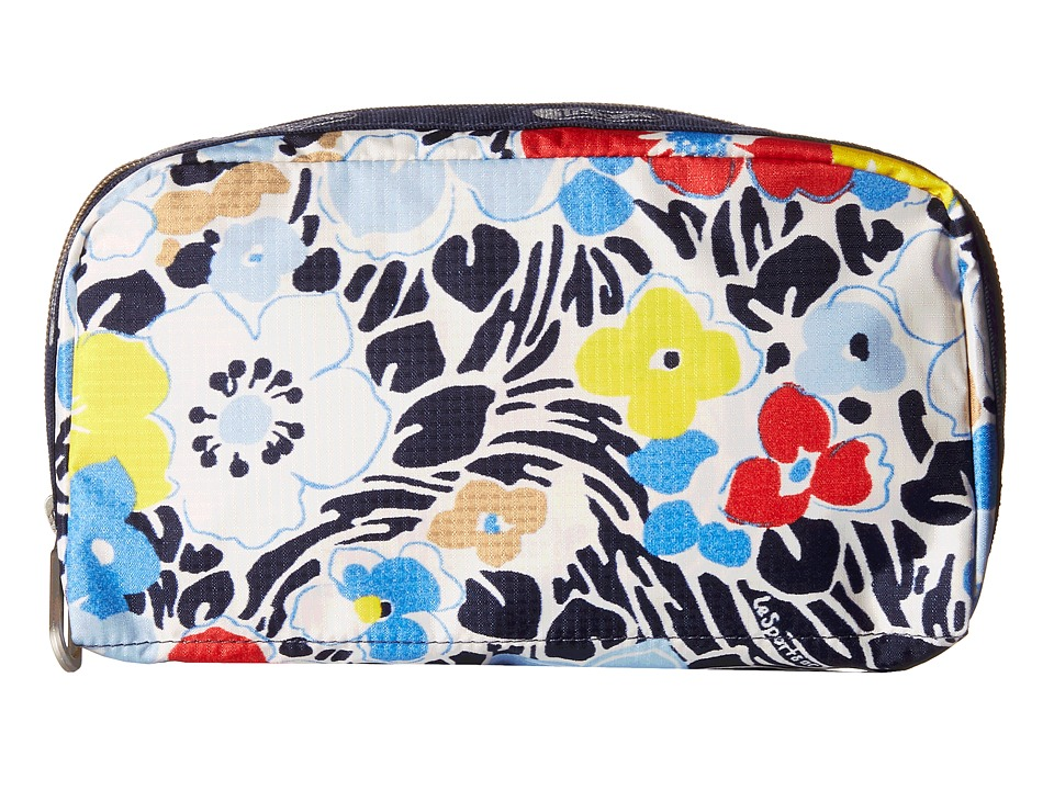 LeSportsac - Essential Cosmetic Case (Ocean Blooms Navy) Cosmetic Case