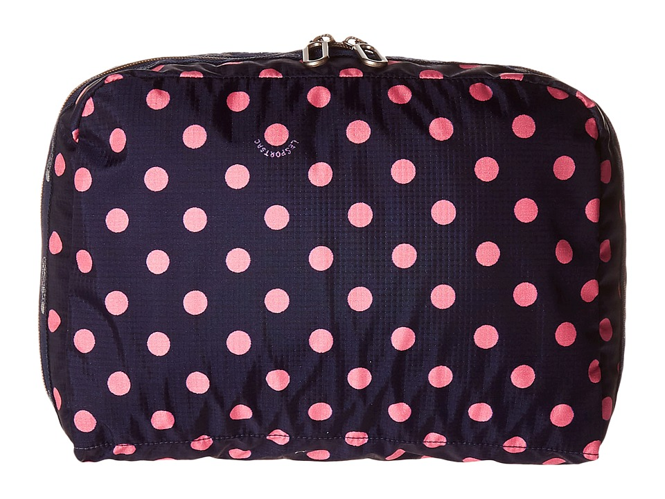 LeSportsac Luggage - XL Essential Cosmetic (Sunshine Dot Pink) Cosmetic Case