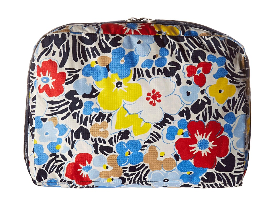 LeSportsac Luggage - XL Essential Cosmetic (Ocean Blooms Navy) Cosmetic Case
