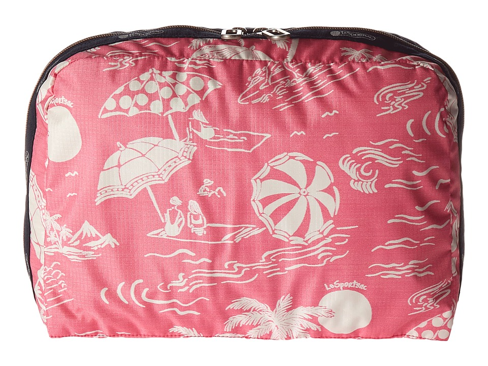 LeSportsac Luggage - XL Essential Cosmetic (Hawaiian Getaway Pink) Cosmetic Case