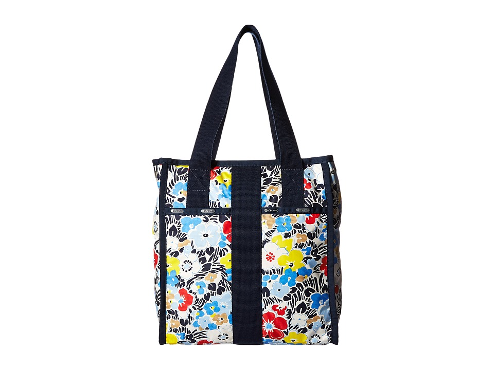 LeSportsac Luggage City Tote Ocean Blooms Navy Tote Handbags