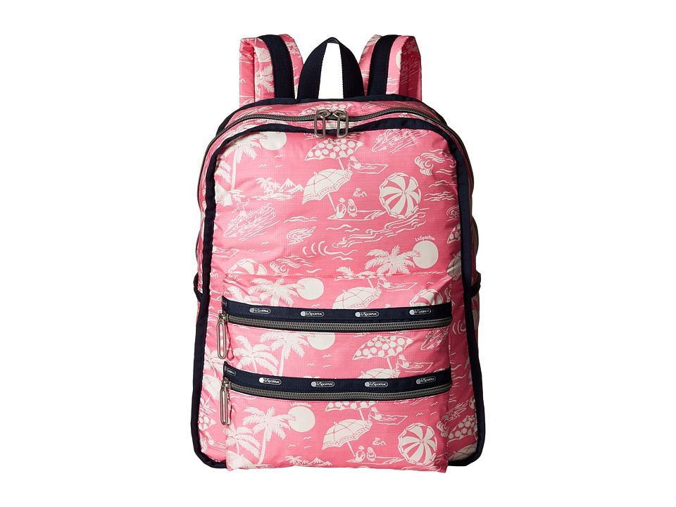 LeSportsac - Functional Backpack (Hawaiian Getaway Pink) Backpack Bags