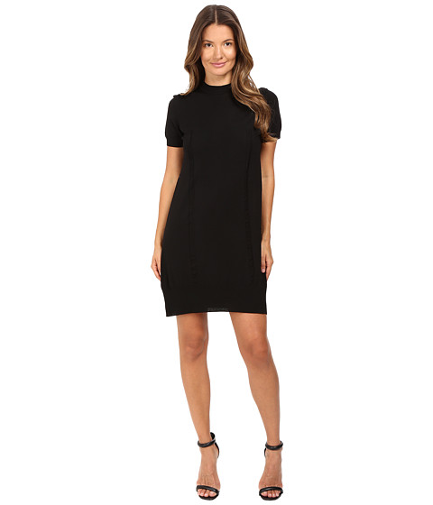 Vera Wang Short Sleeve Knit Dress w/ Tulle Back