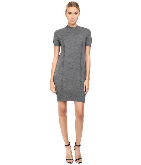 Vera Wang Short Sleeve Knit Dress w/ Tulle Back