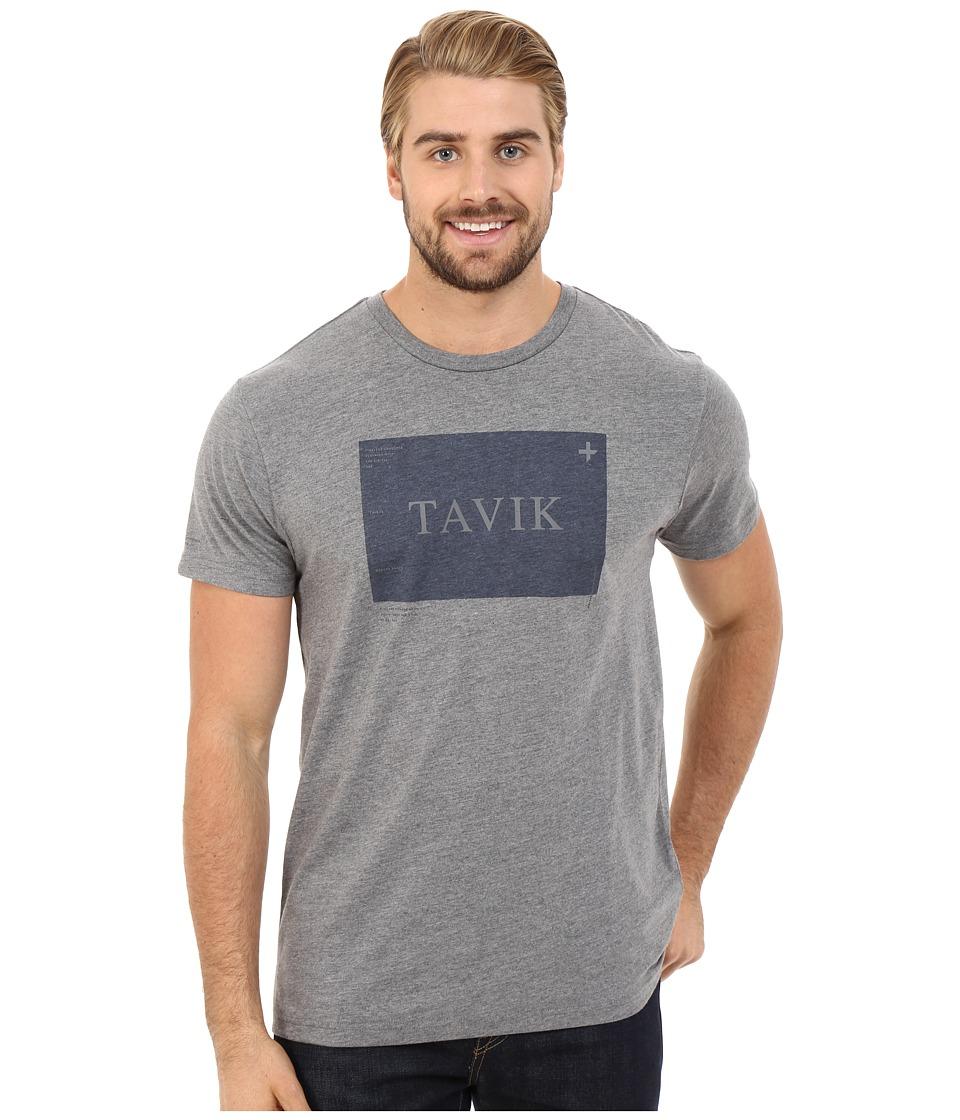 Tavik Area Printed Tee Heather Grey Mens T Shirt