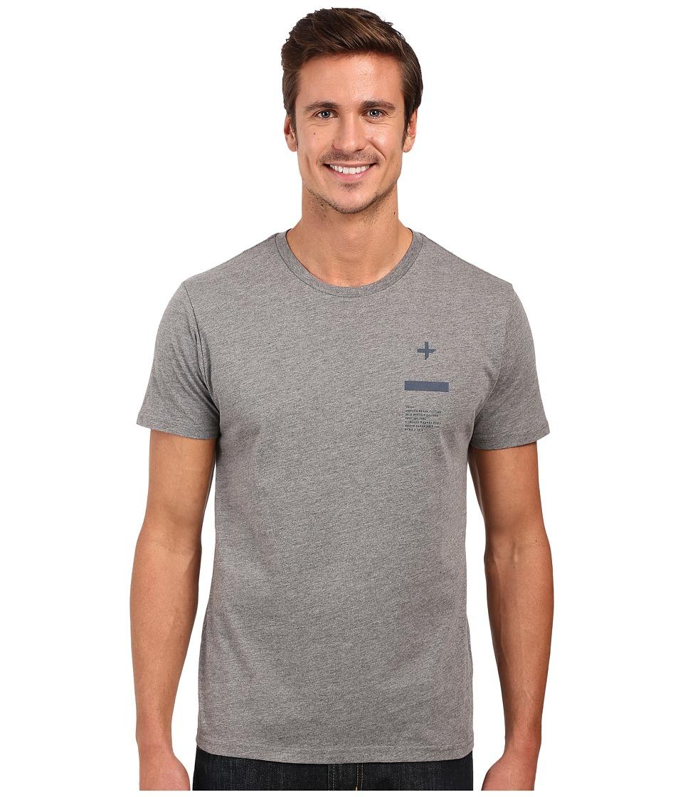Tavik Tract Printed Tee Heather Grey Mens T Shirt