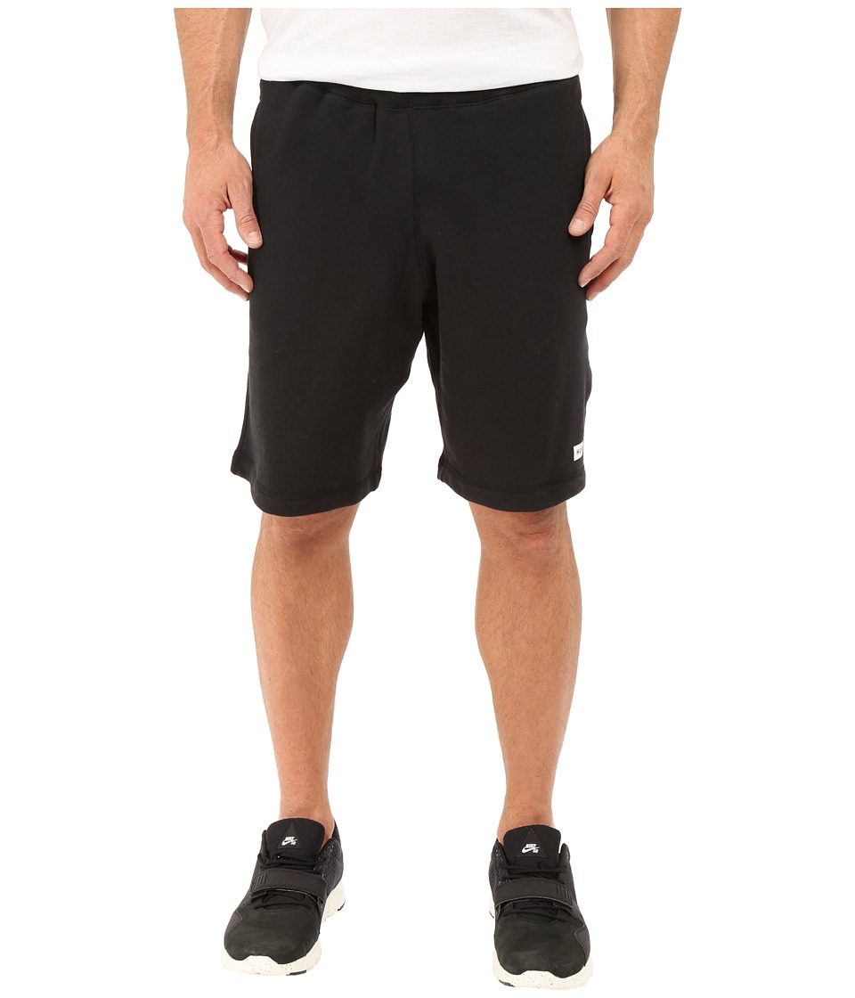 HUF Cadet Fleece Shorts Black Mens Shorts