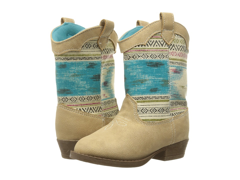 Image of Baby Deer - Aztec Western Boot (Infant/Toddler) (Tan) Girls Shoes