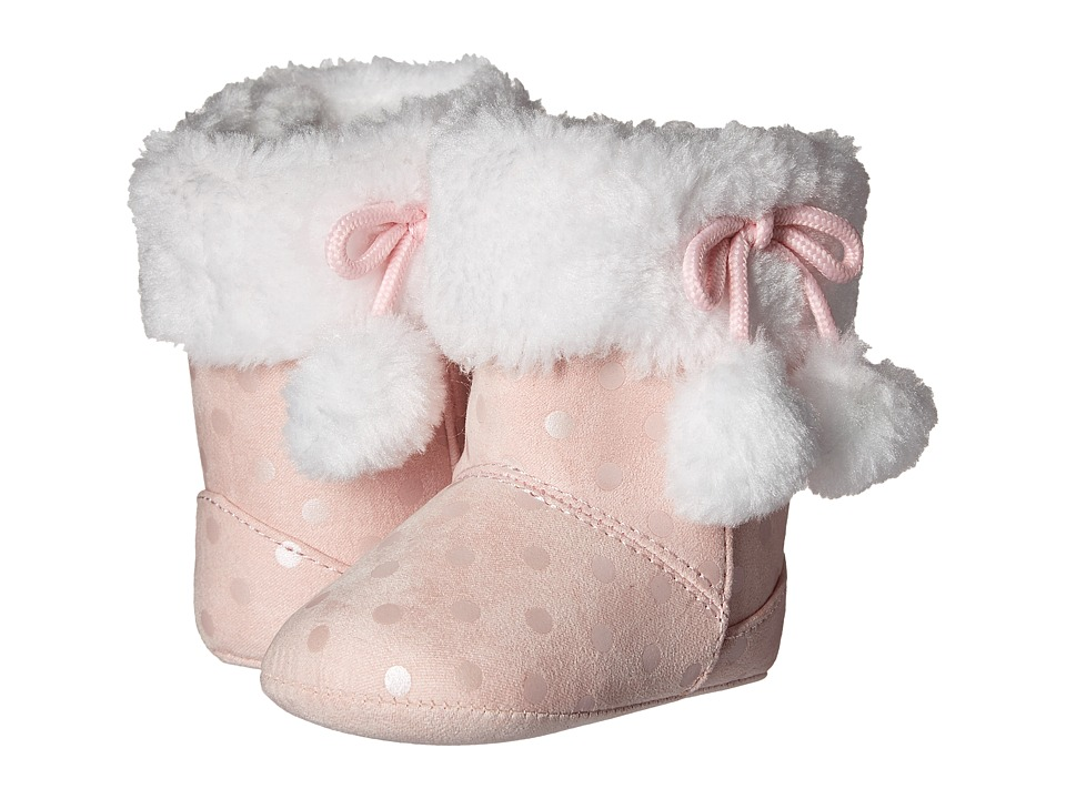 Baby Deer Metallic Dot Boot (Infant) (Pink) Girls Shoes