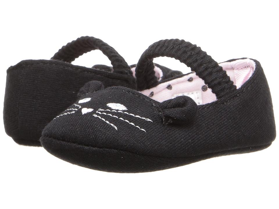 Image of Baby Deer - Cat Skimmer (Infant) (Black) Girl's Shoes