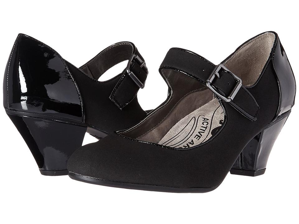 LifeStride - Glamour Black Womens  Shoes $59.99 AT vintagedancer.com