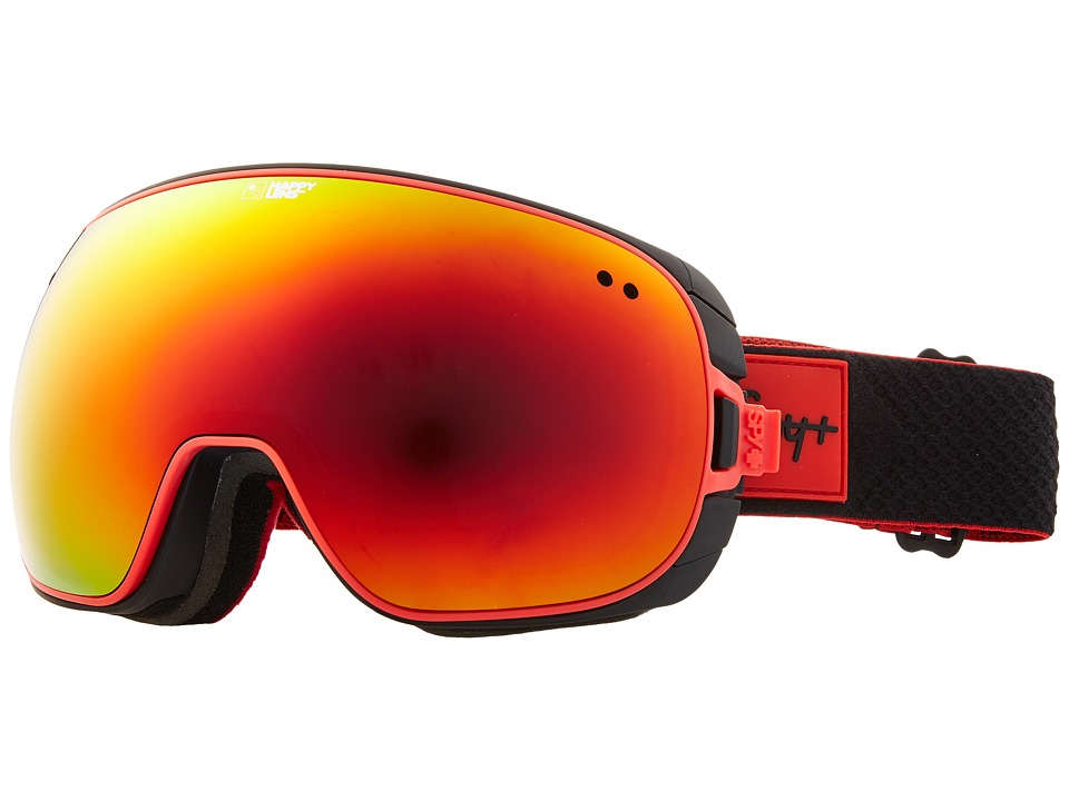 Spy Optic Doom (Black Red/Happy Red Spectra/Happy Lucid Green) Snow Goggles