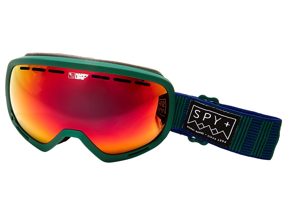 Spy Optic Marshall (Stitched Green/Happy Red Spectra/Happy Lucid Red) Snow Goggles