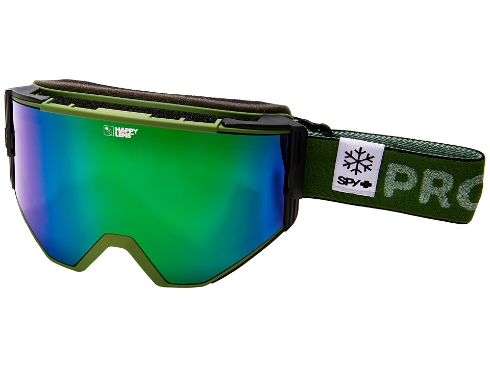 Spy Optic Ace (Spy/Pow/Happy Green Spectra/Happy Lucid Silver) Goggles