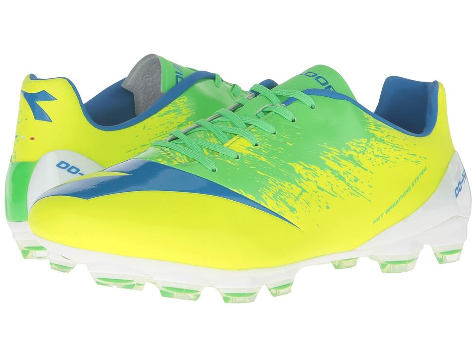 Diadora DD-NA4 GLX 14 (Yellow Fluo/Green) Men's Soccer Shoes