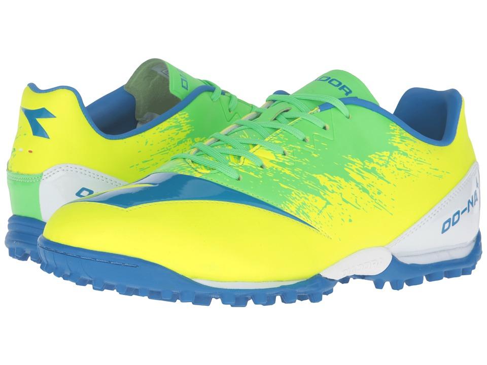 Diadora - DD-NA4 R TF (Yellow Fluo/Green) Mens Soccer Shoes