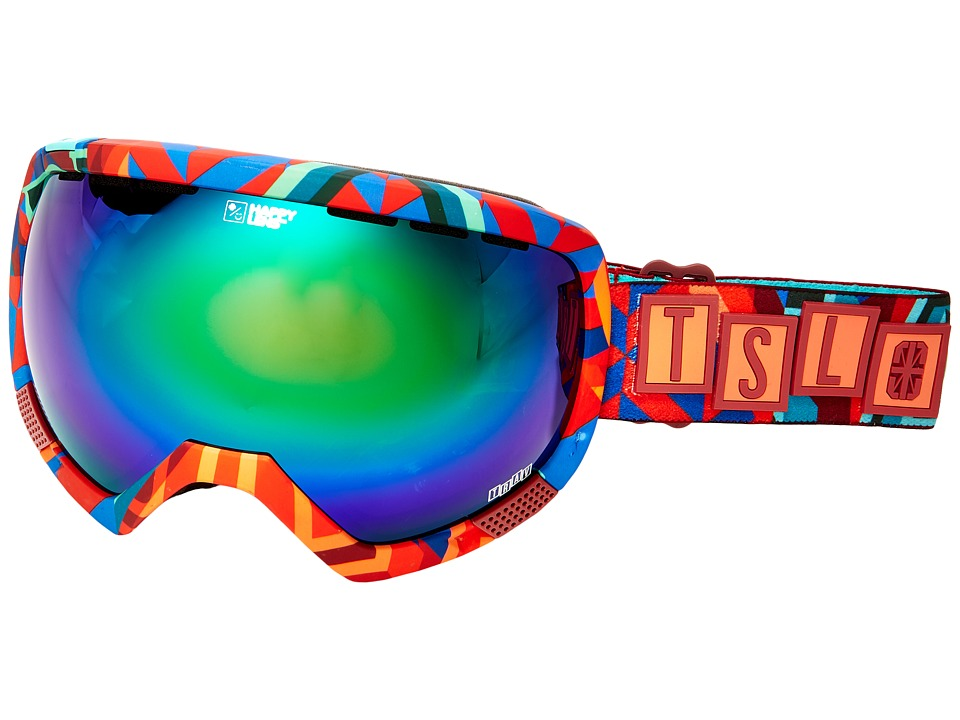 Spy Optic - Platoon (Spy/Tsl/Travis/Happy Green Spectra/Happy Lucid Silver) Snow Goggles
