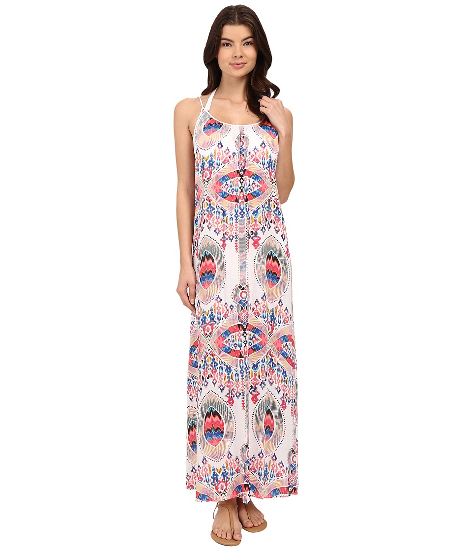 Red Carter Dream Catcher Maxi Dress Cover Up White Womens Swimwear