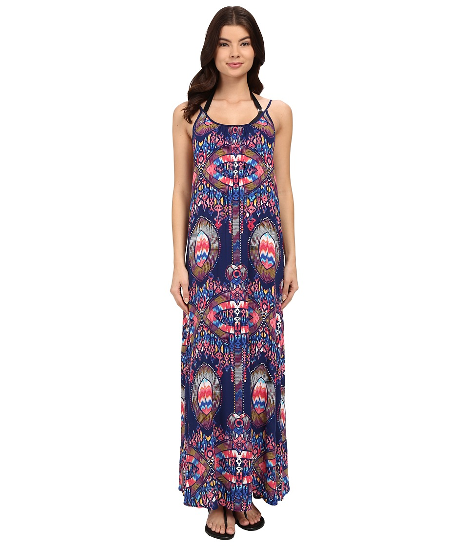 Red Carter Dream Catcher Maxi Dress Cover Up Navy Womens Swimwear