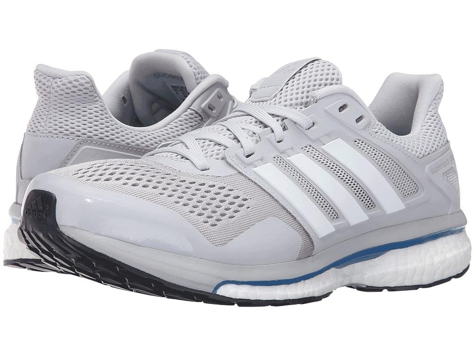 adidas Running - Supernova Glide 8 (Soft Grey/White/Blue) Mens Running Shoes