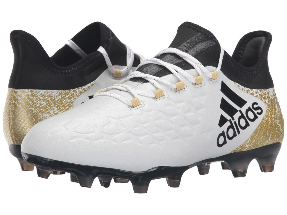 adidas - X 16.2 FG (White/Black/Gold Metallic) Men