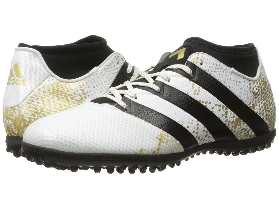 adidas Ace 16.3 Primemesh TF (White/Gold Metallic/Black) Men