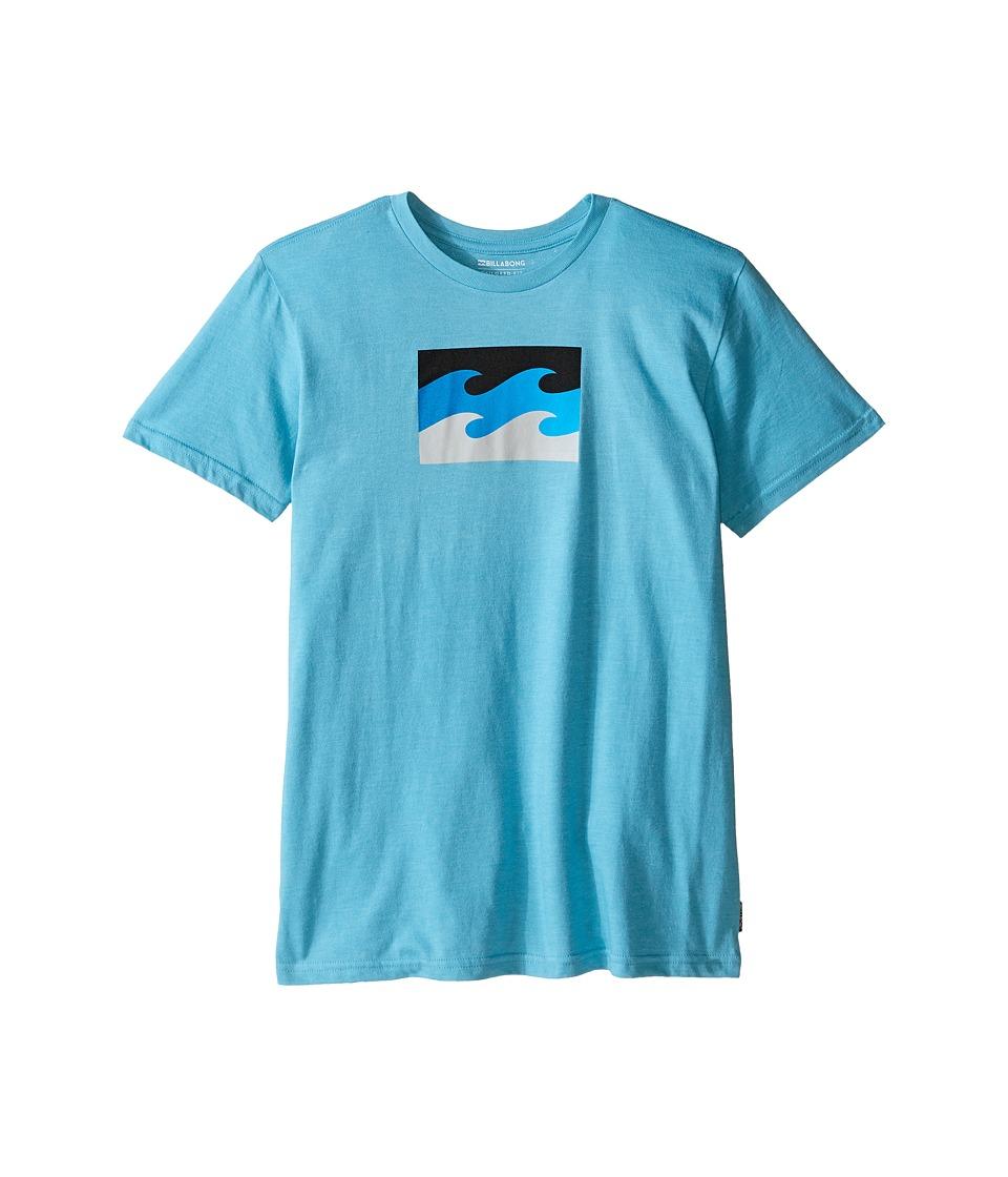 Billabong Kids - Tribong T-Shirt (Big Kids) (Aqua Heather) Boy