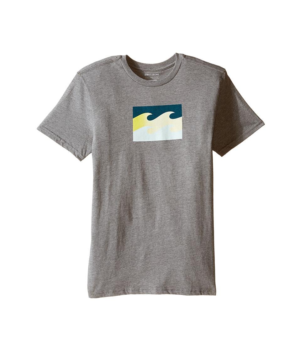 Billabong Kids - Tribong T-Shirt (Big Kids) (Dark Heather Grey) Boy