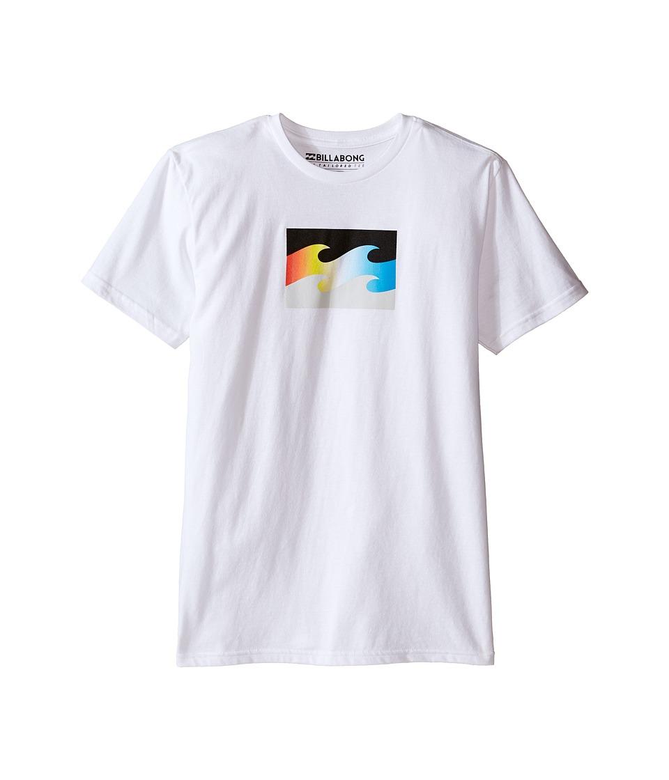 Billabong Kids - Tribong T-Shirt (Big Kids) (White) Boy
