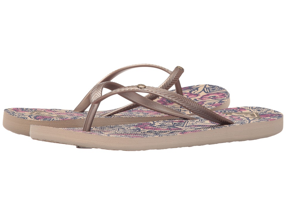 Roxy Bermuda (Gold/Dark Pink) Sandals