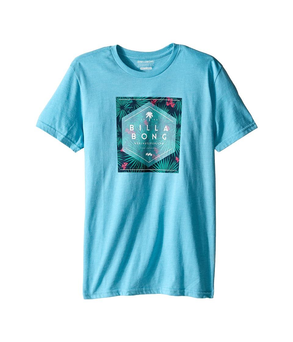 Billabong Kids - Hex Fill T-Shirt (Big Kids) (Aqua Heather) Boy