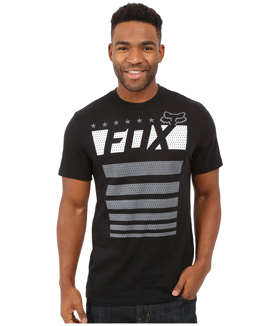 Fox - Red, White and True Short Sleeve Tee (Black) Men
